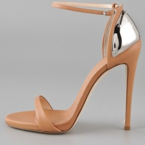 Giuseppe Zanotti, metallic counter sandals
