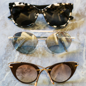 Six different pair of sunglasses